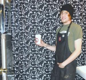 Java Bean get a Sin in Linen shower curtain!