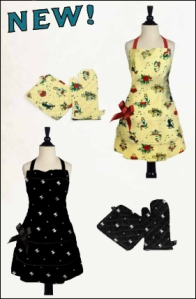 New Aprons and Oven Mitt/Potholder Sets!