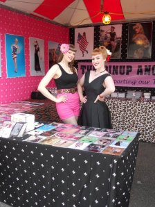 Pinup Angels booth at Ink and Iron with Sin in Linen decor