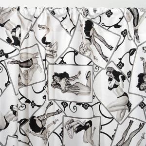 Pin up Girl Print Curtains and Valances