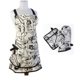 New Pin up Girl Print Kitchen Linens