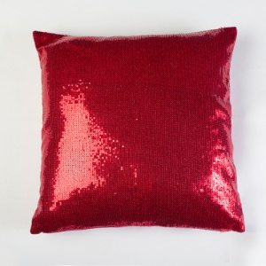 Red Sequin Throw Pillow