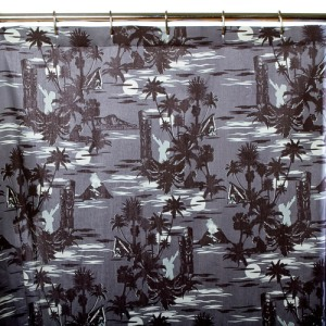 Midnight Tiki Print Shower Curtain