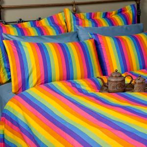 "Celebrate equality ""in bed"" with these NEW Rainbow pillowcase sets and duvet covers."